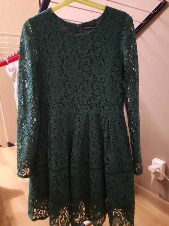 Koronkowa sukienka zielona