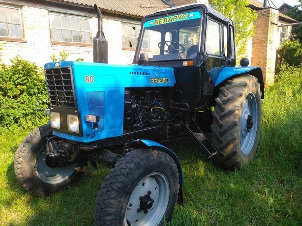 Трактор МТЗ-80 з дозатором.