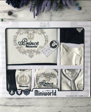 Крестильный костюм,  набор на выписку для мальчика Miniworld 5. (62р)
