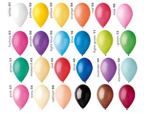 Воздушные шары по цветам, кульки повітряні 13 см фотозона, декор