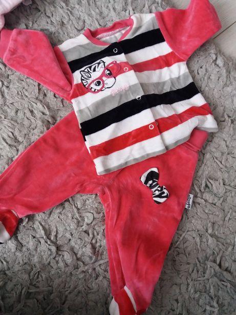 Dres bluza spodenki r.62 dresik niemowlecy