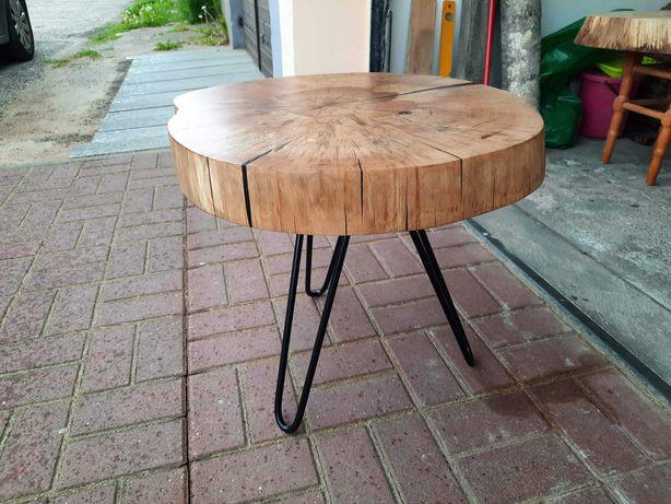Stolik kawowy z plastra - Buk