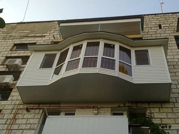 АКЦИЯ -27%! Расширение балконов! увеличение вынос вперед рюмка ремонт