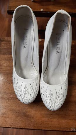 Туфли белые,  свадебные туфли