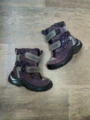Детские замшевые зимние термо ботинки Ecco