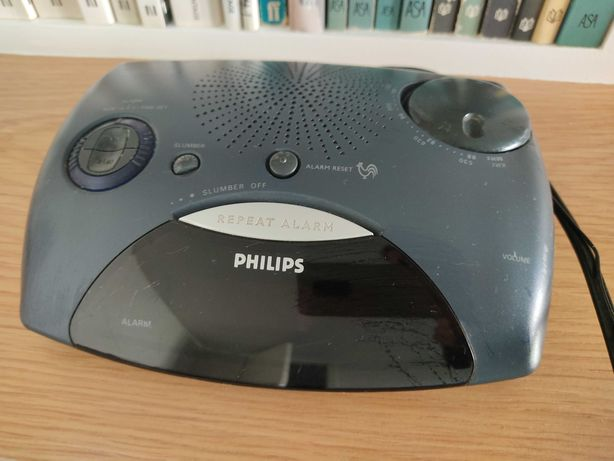 Rádio despertador Philips antigo
