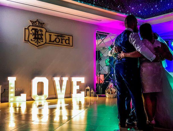 Napis LOVE biały ślub, wesele HIT
