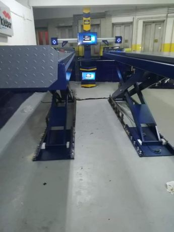 Elevador de tesoura de alinhamento de 5.5 ton transp. e montagem inclu