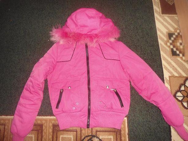 куртка розова подросток