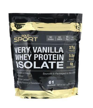 Протеин изолят California Gold Nutrition, ваниль 2270г
