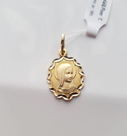 """OBŁĘDNA złota zawieszka """"Matka Boska"""" pr. 585"""