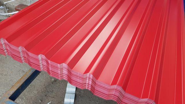 Aluminiowa blacha profil , dach. ogrodzenie , elewacja St18 czerwona