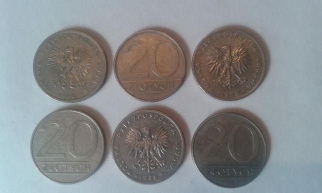 Monety 20 złoty z 1986 roku