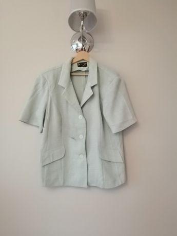 mietowa bluzka koszula jasnoniebieska pistacjowa zakiet 48 46 XXL