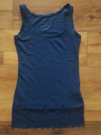 Granatowa sukienka bluzka xs koronka orsey