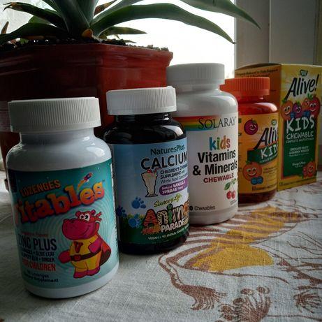 Solaray, Alive, Детские жевательные витамины и минералы, 120 шт.