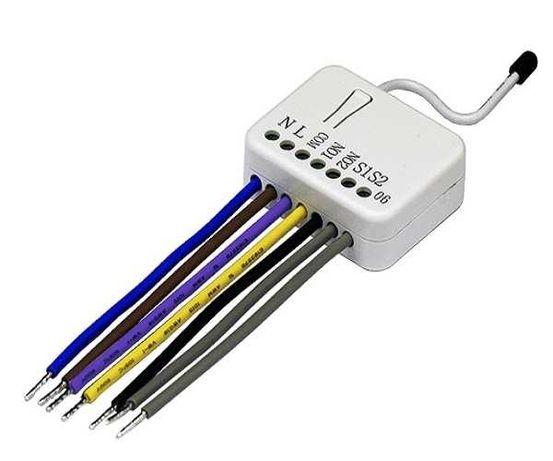Domotica Zwave Micromódulo actuador 2 saídas PAN06