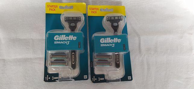 GILLETTE MACH 3 - 3 ostrza.Maszynka + 3 wkłady.