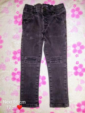 Mega rurki jeansowe Next rozmiar 86 cm