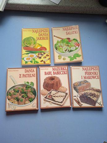 Książki kucharskie zestaw 5 sztuk