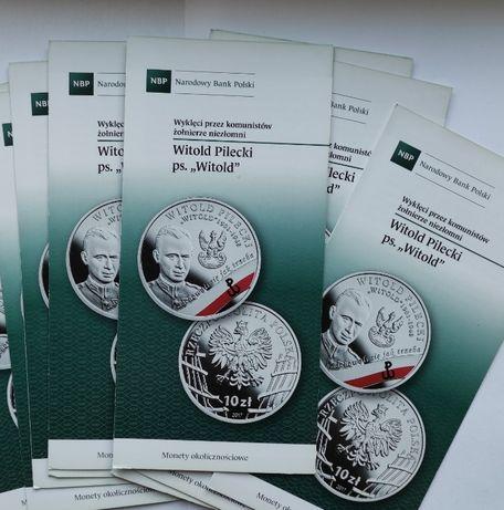 monety-10 zł 2017 r W.Pilecki ps WITOLD-FOLDERY