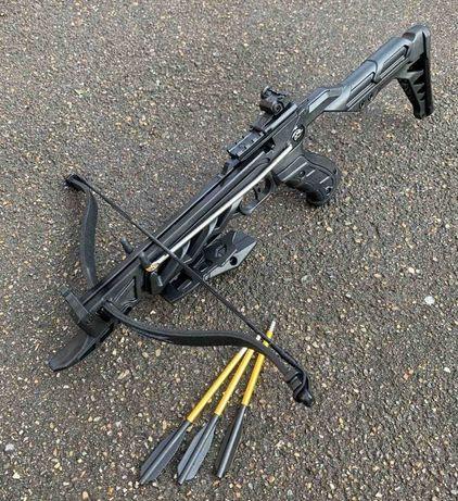 Арбалет-пистолет Man Kung MK-TCS2-BK Alligator, регул. приклад черный