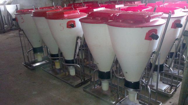 Automaty paszowe podwójne, tubomaty dla tuczników