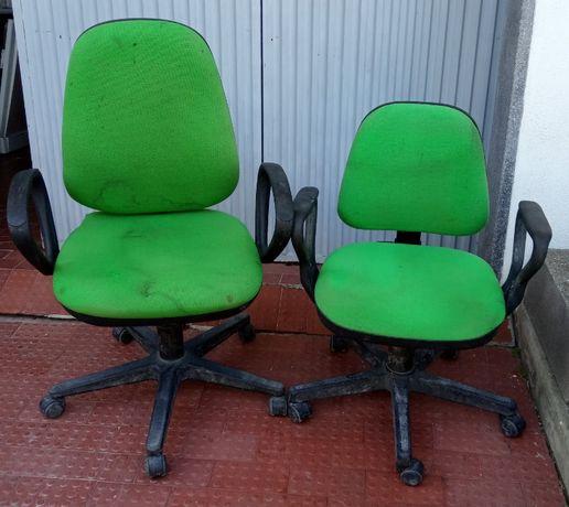Conjunto de 2 cadeiras de escritório