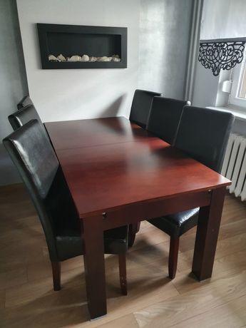 Stół dębowy z litego drewna 180 cm / 90 cm . Rozkladany na 240 - 300