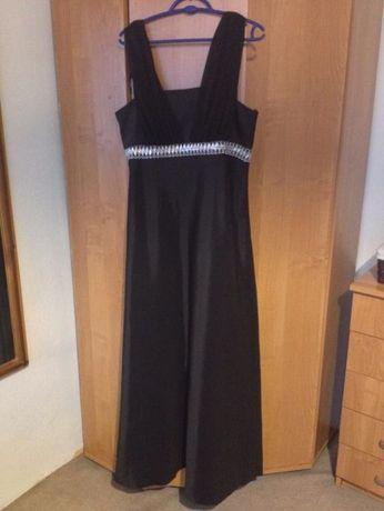 czarna długa suknia bal studniówka wesele
