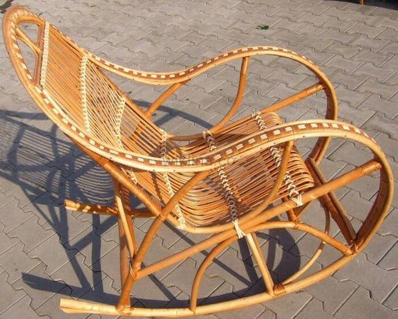 Fotel bujany z wikliny Retro 18lat