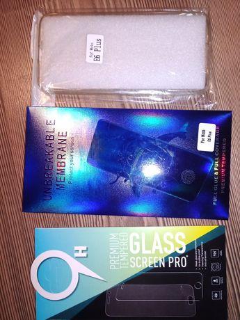 Etui e6 folia hydrogel Moto e6 plus szkło hartowane Motorola e6 plus