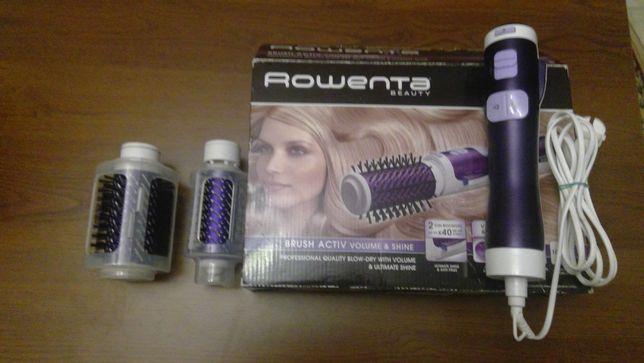 Фен-щетка ROWENTA для укладки волос с вращением щеток и ионизацией