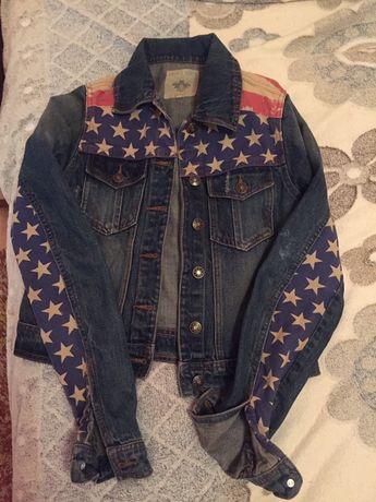 Продам мегакрутую джинсовую куртку на девочку-подростка