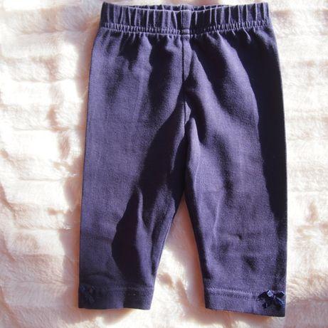 Granatowe legginsy z kokardkami George rozm. 62