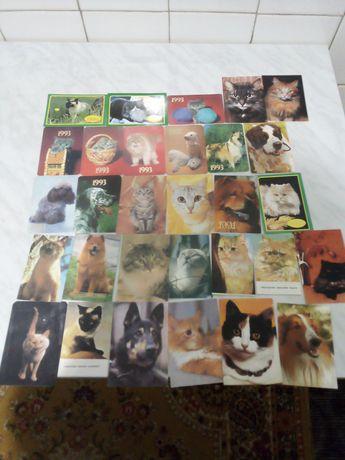 Продам календарики животных