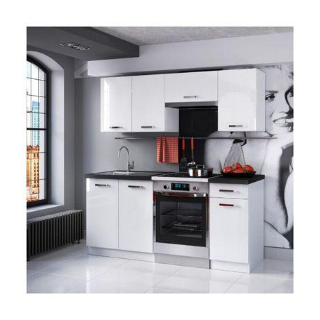 Zestaw mebli kuchennych biały połysk