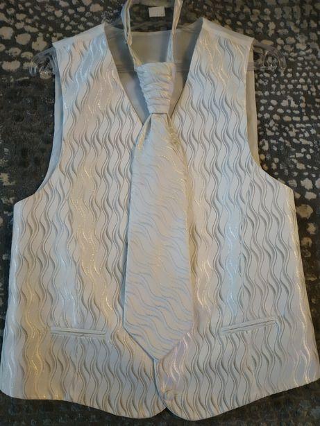 Nowa kamizelka i krawat ślubny, r. 48