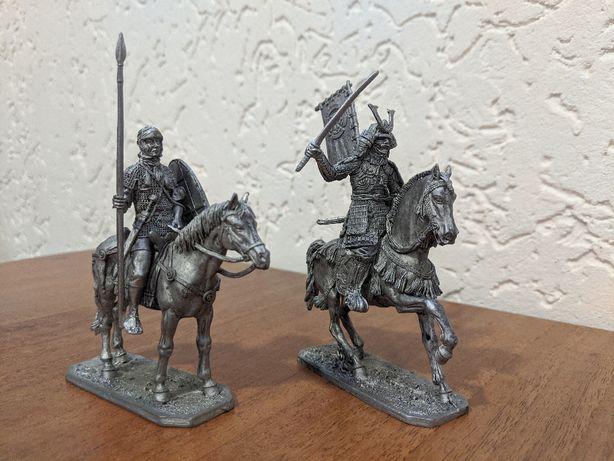 Коллекционная фигура конного воина (90мм). Рим и Япония.
