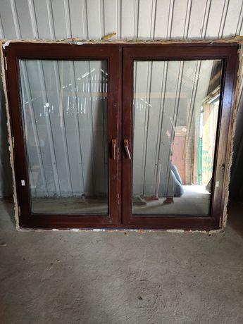Drewniane okna(różne wymiary) i dębowe drzwi wraz z futryną