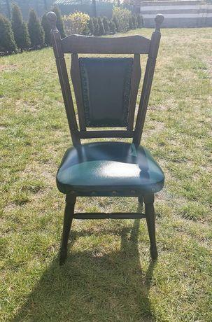krzesla drewno skora 8 sztuk!
