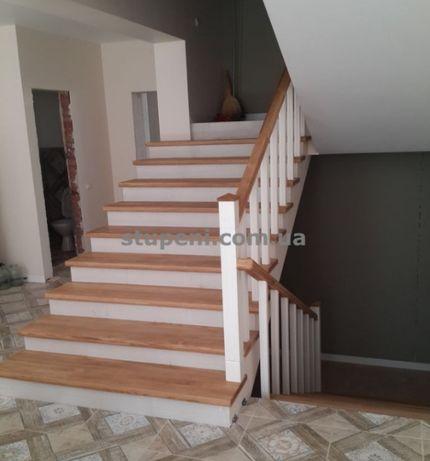 Деревянные лестницы для дома под ключ. Ступени на второй этаж.