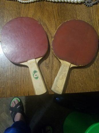 Теннисные ракетки и 2 шарика ссср настольный тенис