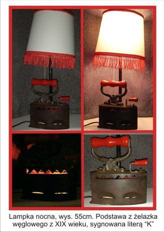 Unikatowa lampa biurkowa retro
