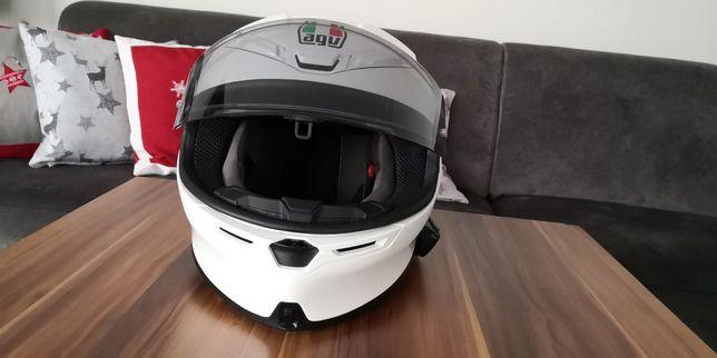 Kask motocyklowy AGV K6 XL biały połysk