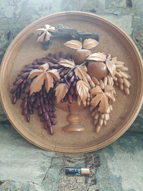 Интерьерная композиция из натурального дерева, можевельника