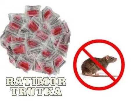 TRUTKA RATIMOR PASTA trucizna na myszy szczury 3kg