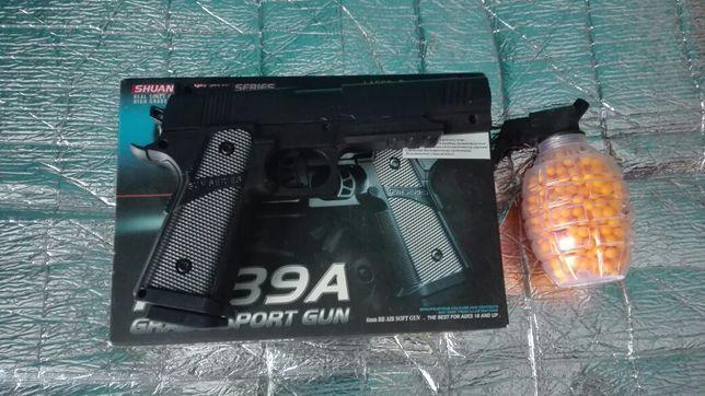 Pistolet na kulki zabawkowy + 500 kulek