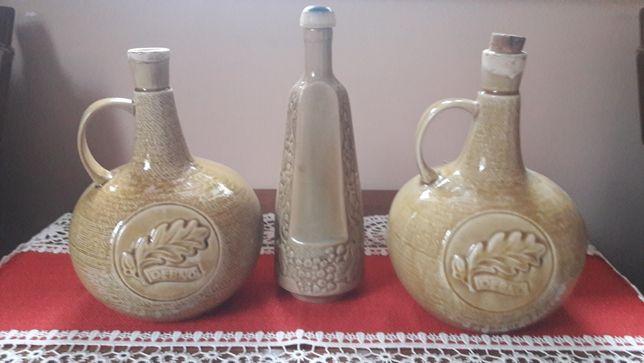 Karafka karafki ceramika kamionka PRL Mirostowice