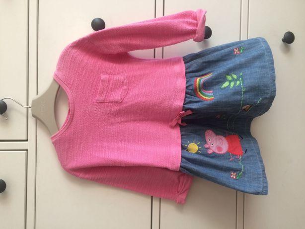 NEXT PEPPA PIG tunika sukienka bluzka rozm 98cm